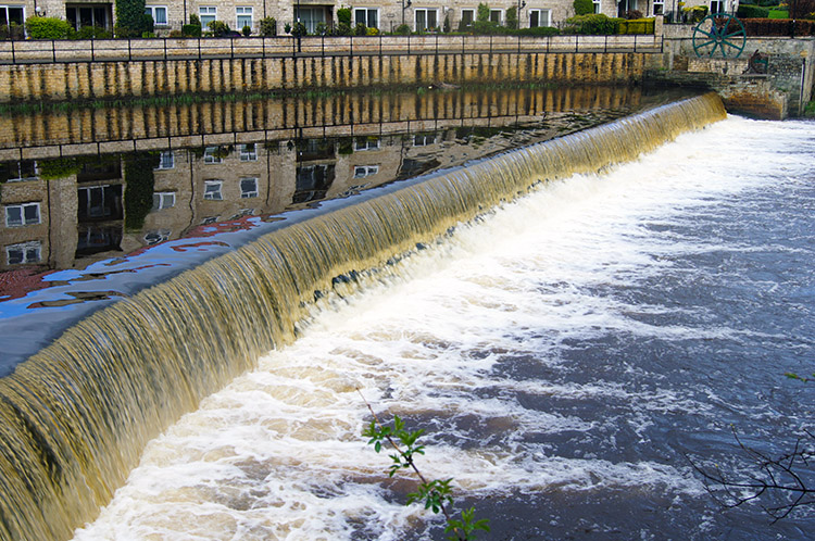 Weir on the River Wharfe at Wetherby