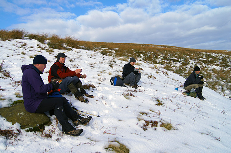 First break of the day on Riggs Moor