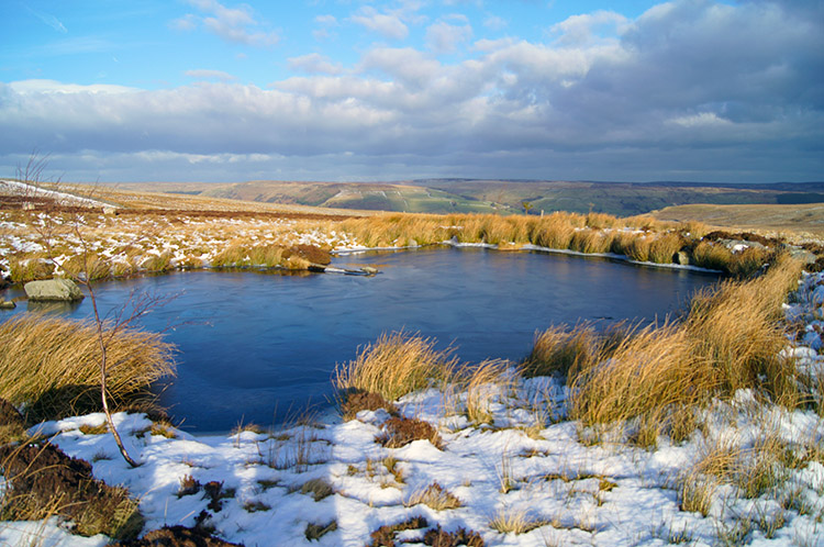 Pond near Black Hill and Washfold Wham