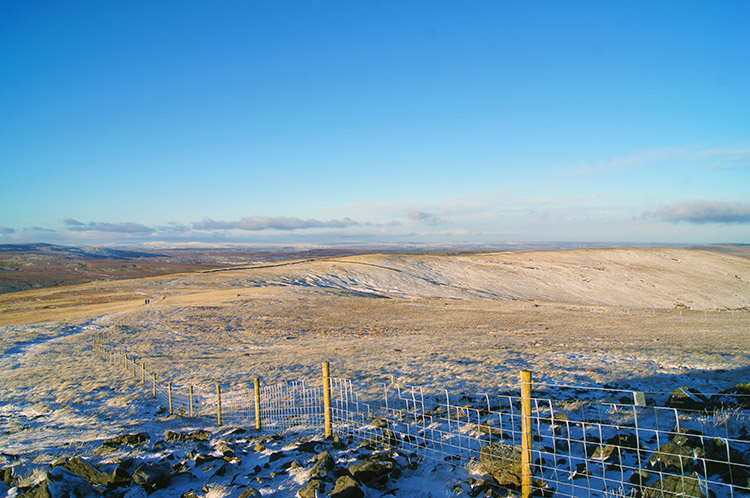 The ridge to Little Whernside