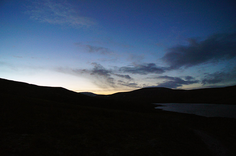 Scar House Reservoir at dusk