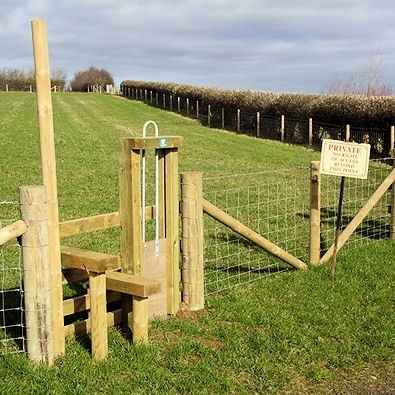 Stile and dog latch by Front Row Fencing