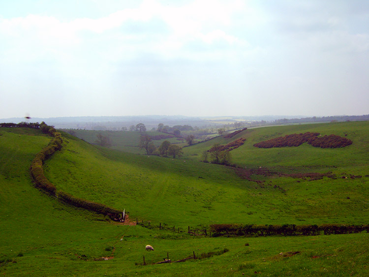 Dry valley near Burrough on the Hill