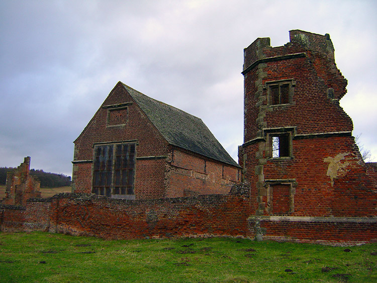 Ruins of the magnificent Tudor house