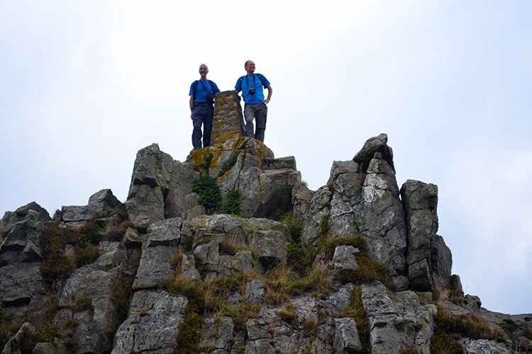 Steve and me on Manstone Rock