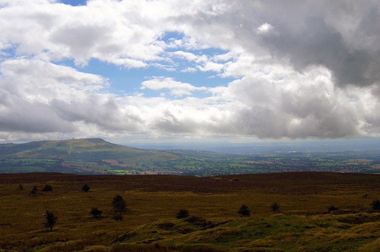 The wonderful view from Brown Clee Hill