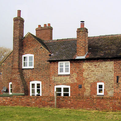 Brick and stone cottage