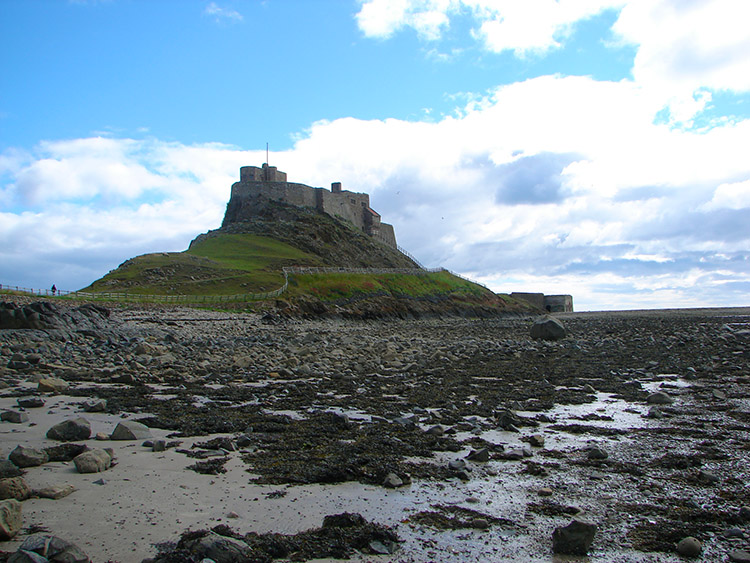 View of the castle from the beach