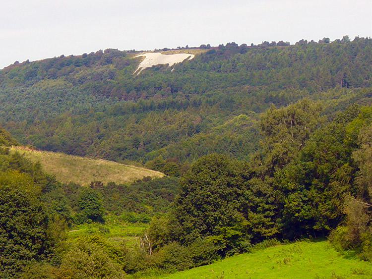 View of the White Horse from High Kilburn