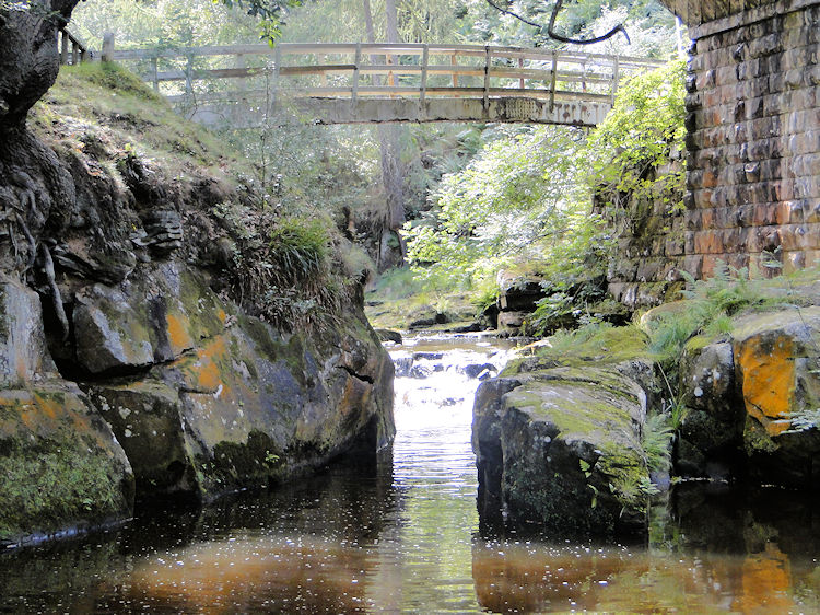 Footbridge near Thomason Foss