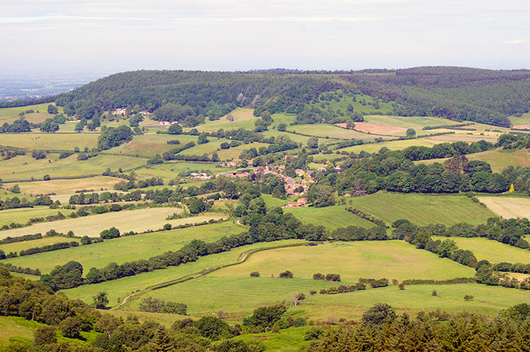 Looking down to Boltby