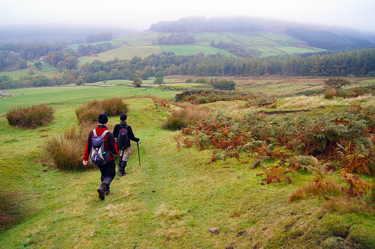 Descending from Rudland Rigg to Bransdale