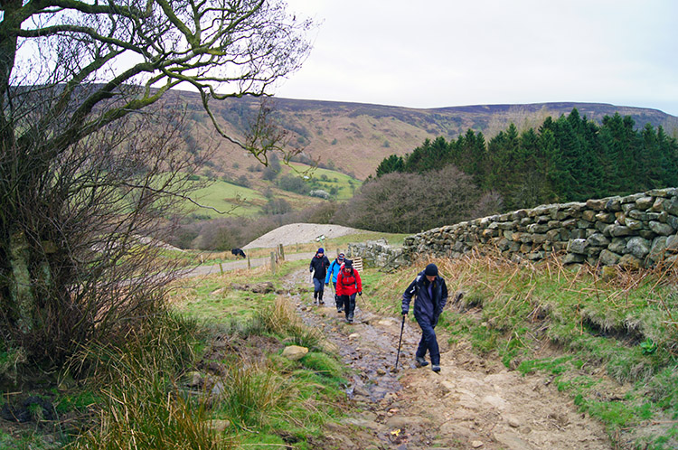 Climbing out of Scugdale