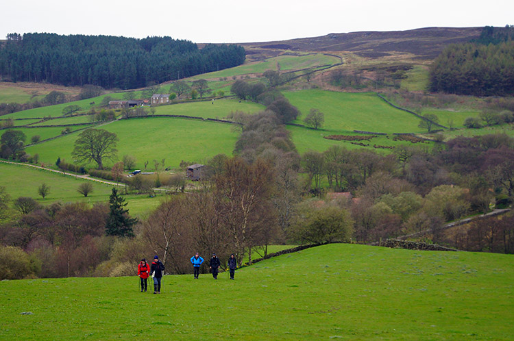Climbing from Raisdale to Cold Moor