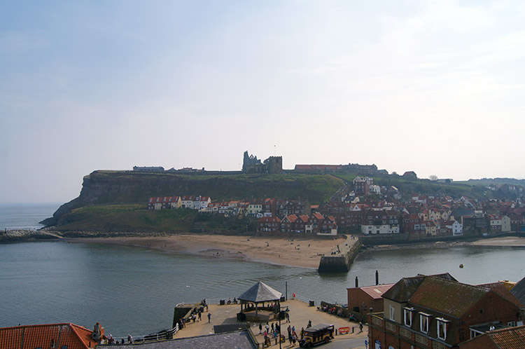 The view across Whitby Harbour from the start