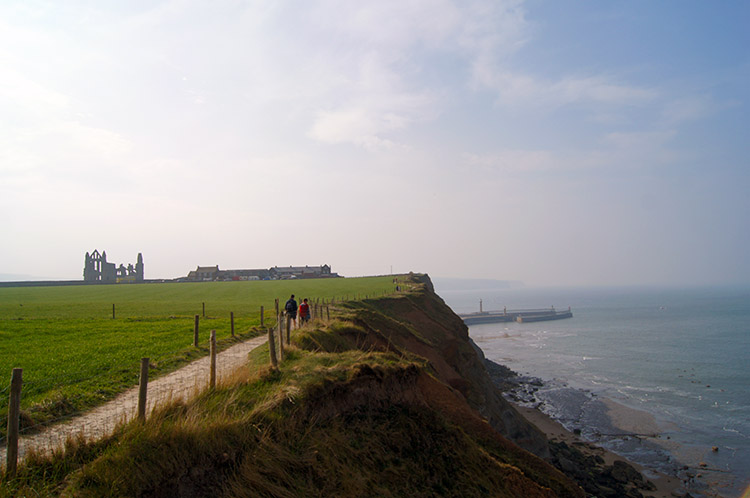 Cleveland Way towards Whitby Abbey
