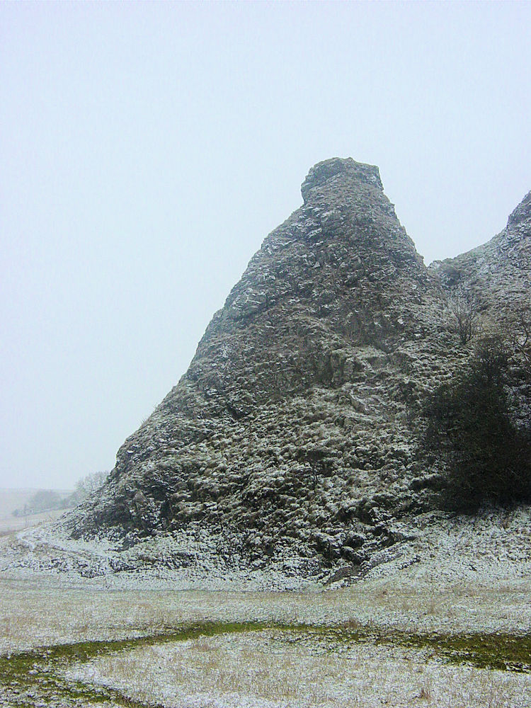 Limestone pyramid on Parkhouse Hill