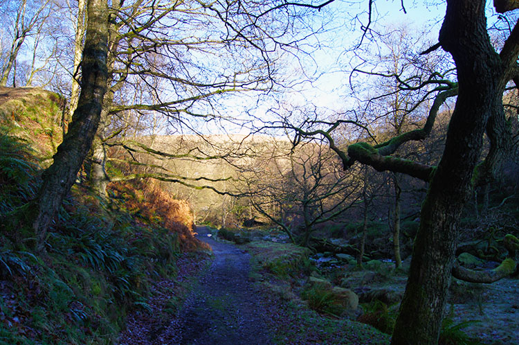 Following the path beside Black Clough