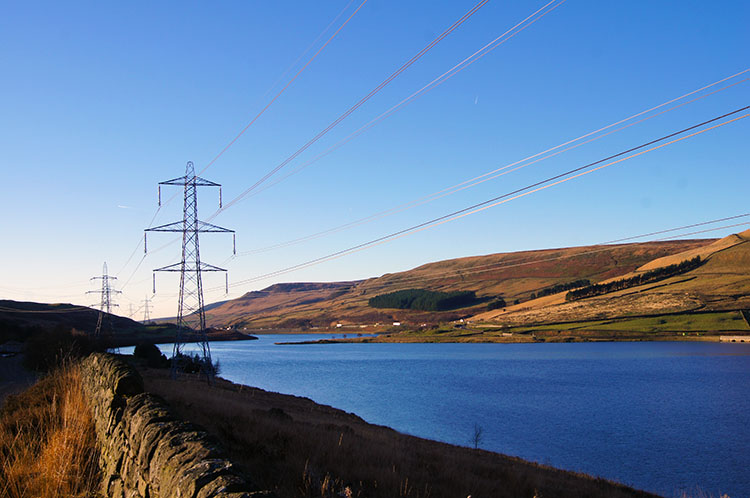 View to Woodhead Reservoir from the trail
