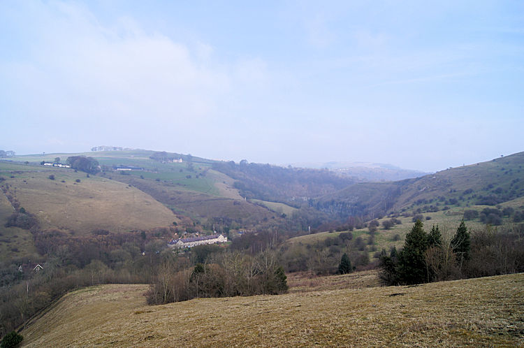 View towards Cressbrook from the south-west