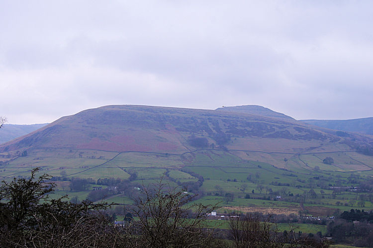 View to Kinder Scout from the north slope of Mam Tor
