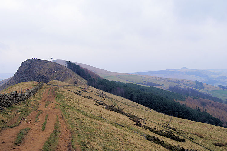 View from Hollin's Cross to Back Tor