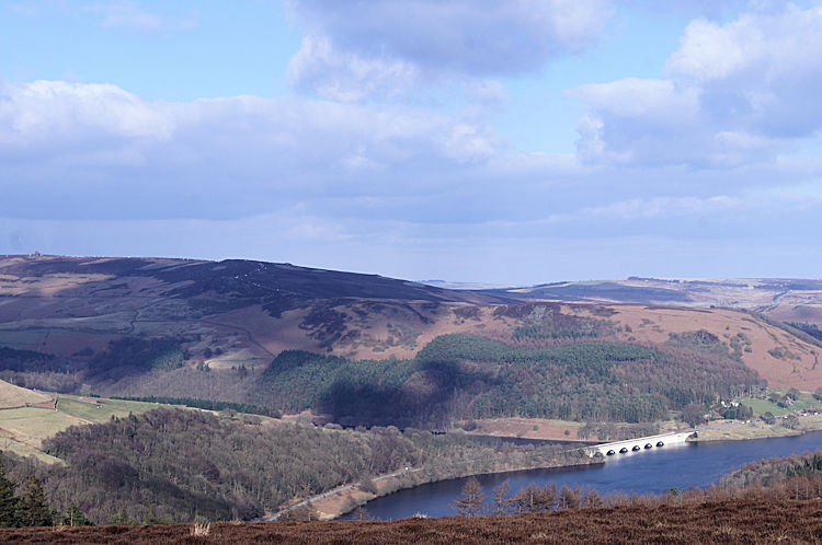 Ladybower Reservoir as seen from Win Hill