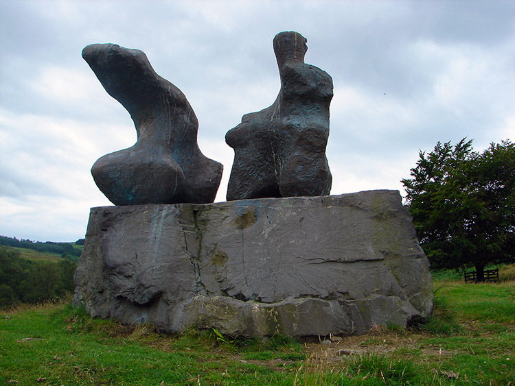 Two Piece Reclining Figure by Henry Moore