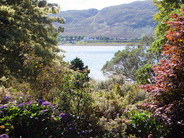 View of Loch Ewe from Inverewe Garden