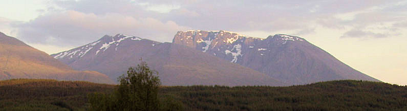 The awesome view of Ben Nevis from the north