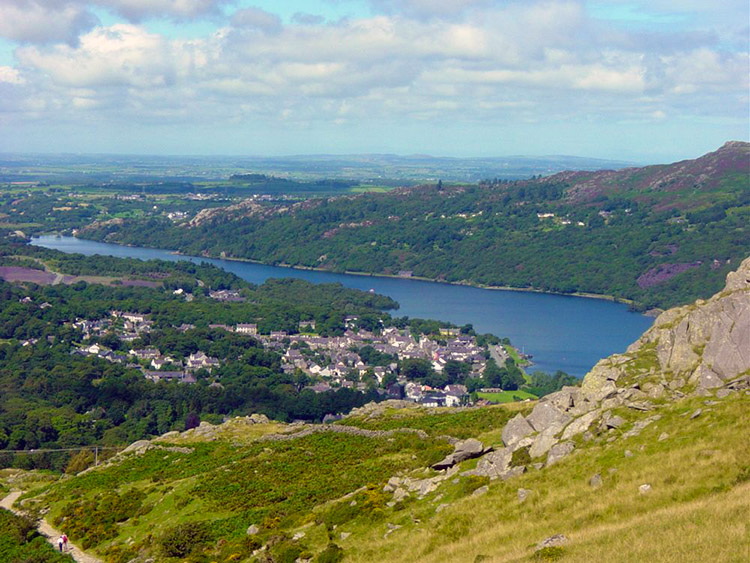 Llanberis from Derlwyn near Hebron Station