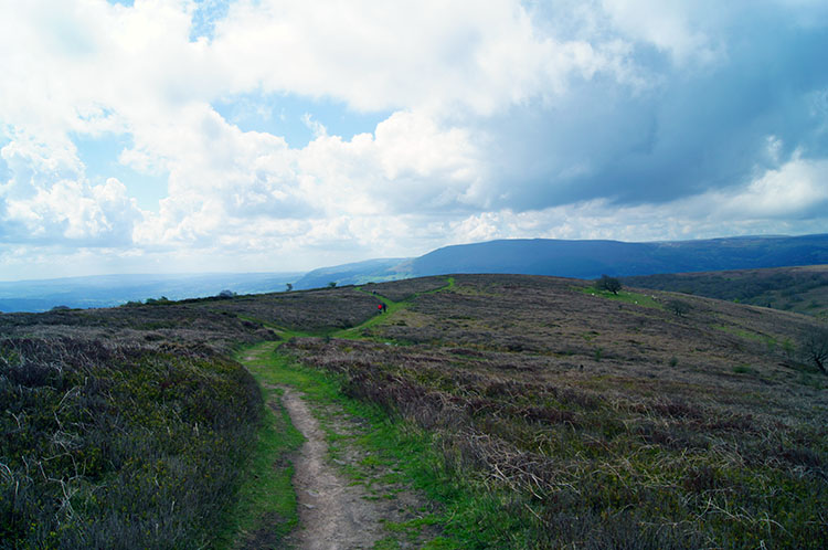 Following the path down towards Abergavenny