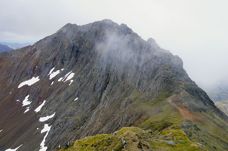 Looking back to Crib Goch
