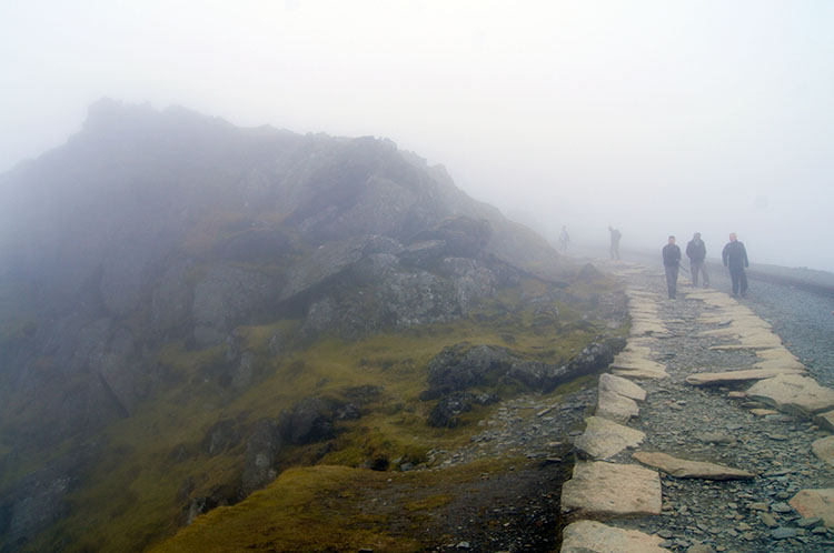 On the final push to the summit of Snowdon