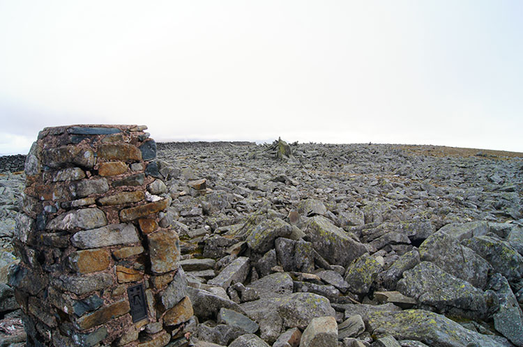 The rocky summit of Foel-fras