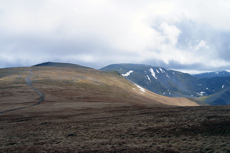 View from Carnedd Gwenllian with Foel Grach on the left