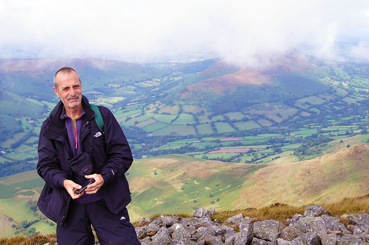 Steve takes in the beauty of the Black Mountains