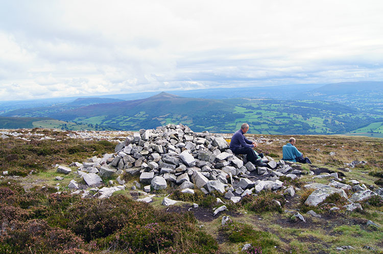 Taking a final break on Pen Cerrig-calch