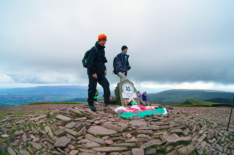 Steve and Dave at the summit of Pen y Fan