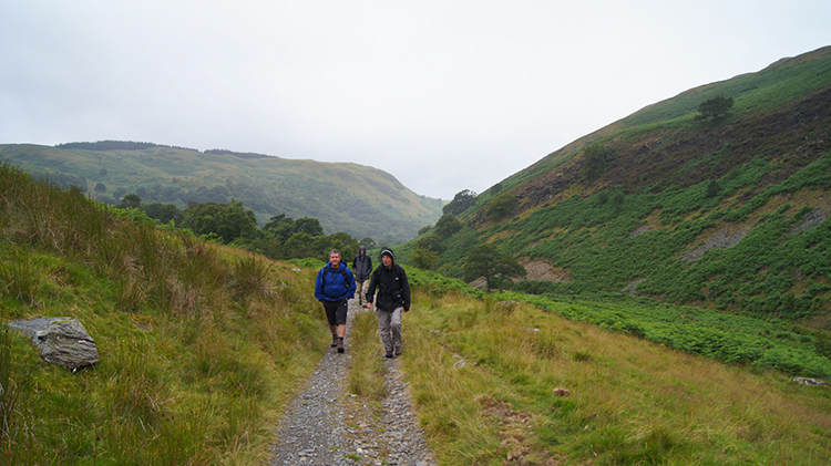 Following the line of Nant Egnant up country