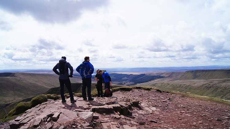Enjoying the view from Cribyn