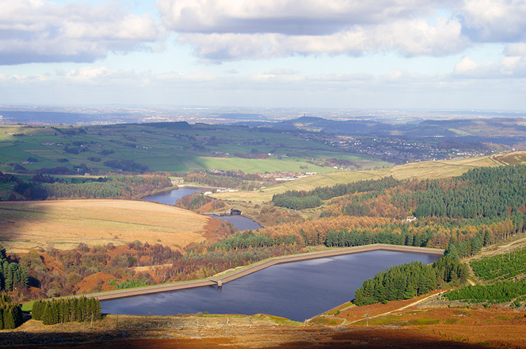 Looking down on Yateholme Reservoir