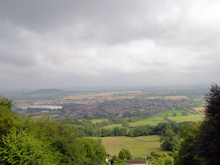 The view north to Brockworth from Cooper's Hill