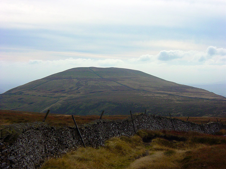 The view to Pen-y-ghent from Plover Hill