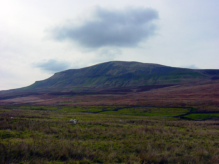 The view of Pen-y-ghent from Dawson Close