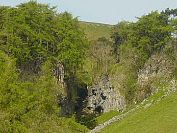Trow Gill as seen from the Long Lane track