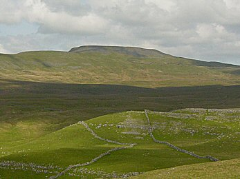 Looking to Ingleborough from Long Scar