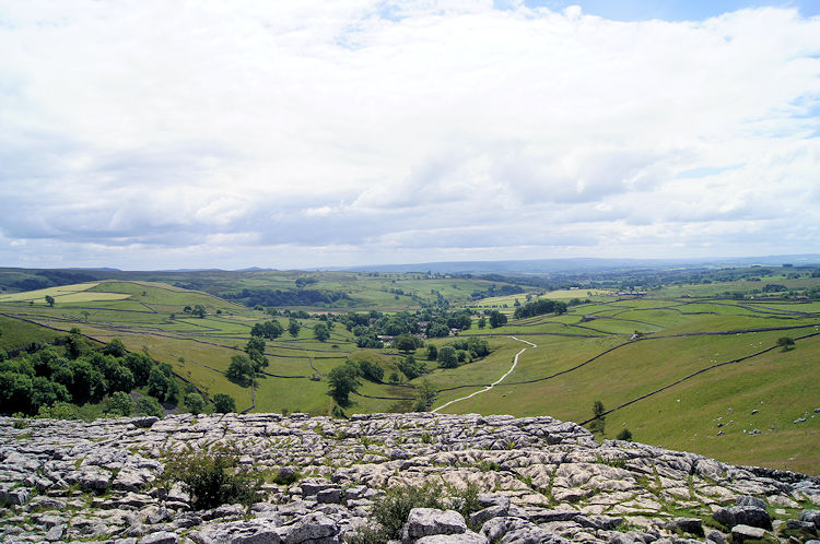 View from Malham Cove to Malhamdale
