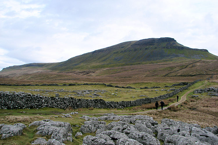 Pen-y-ghent looms large