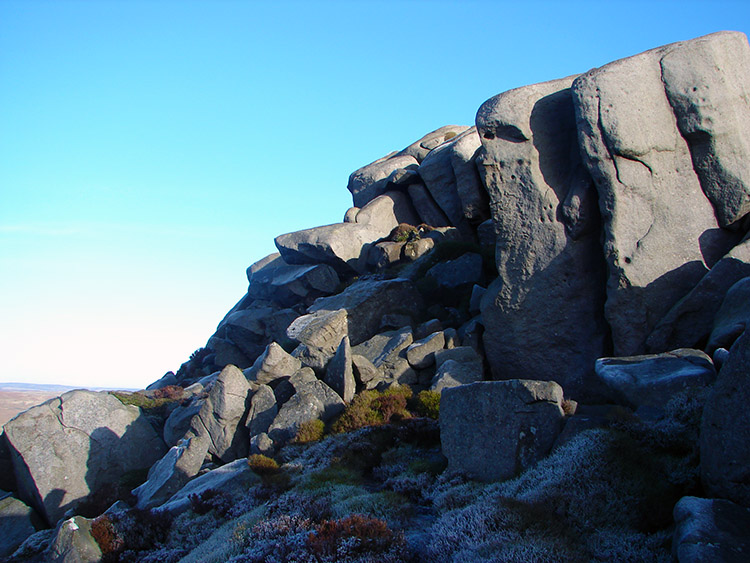 The north facing aspect of Simon's Seat